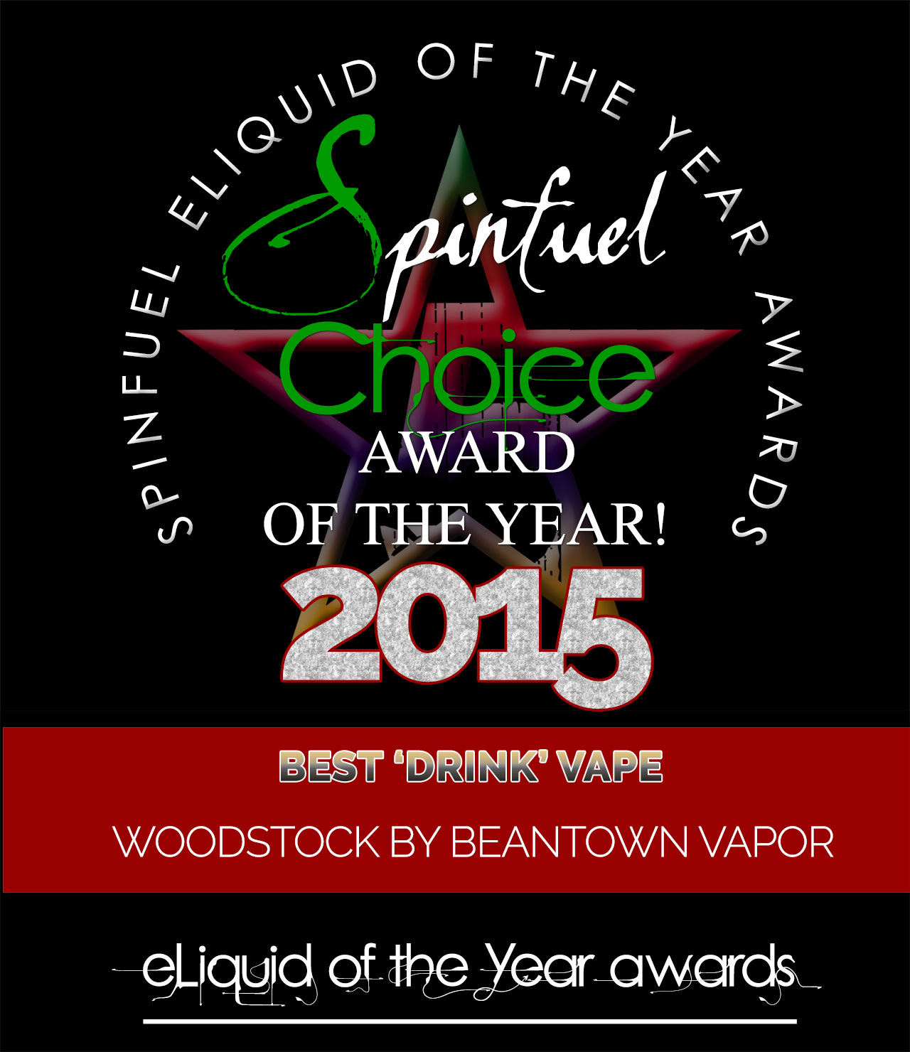 BEST DRINK BEANTOWN Vapor - SPINFUEL CHOICE AWARD 2105