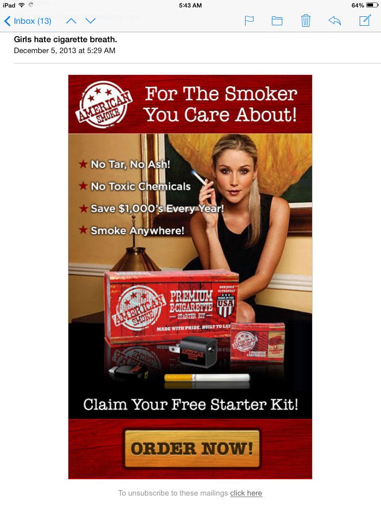 Scam Alert American Smoke