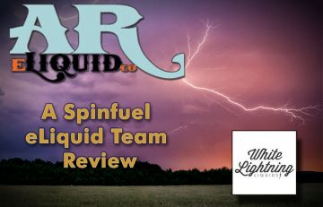 """White Lightning E Liquid by AR eLiquid Arkansas eLiquid Company- """"Our Shine Outshines the Competition"""""""
