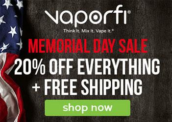 Vaporfi Memorial Weekend Sale