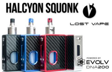 Lost Vape Halcyon Squonk Box Mod Review Spinfuel VAPE Magazine