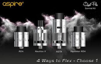 Aspire Quad-Flex Survival Kit Review Spinfuel VAPE eMagazine
