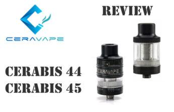 Ceravape Cerabis 44 and Cerabis 45 Tank Review Spinfuel VAPE Magazine