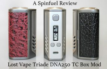 Lost Vape Triade DNA250 TC Box Mod - Spinfuel VAPE Magazine