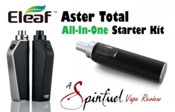 Eleaf Aster Total AIO Starter Kit - Spinfuel VAPE Magazine