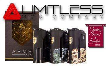 Limitless Mod Co. Arms Race 200W TC Box Mod Preview - Spinfuel VAPE Magazine