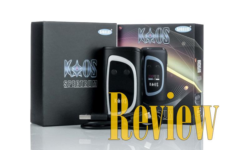 Sigelei KAOS Spectrum 230W TC Box Mod Review - Spinfuel VAPE Magazine