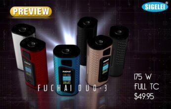 Sigelei Fuchai Duo-3 175W TC Box Mod PREVIEW Spinfuel VAPE Magazine