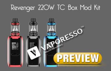 Vaporesso Revenger 220W TC Box Mod is Coming - Spinfuel VAPE Magazine Preview