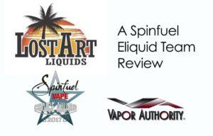 Lost Art e-Liquid Review A Spinfuel VAPE Eliquid Team Review