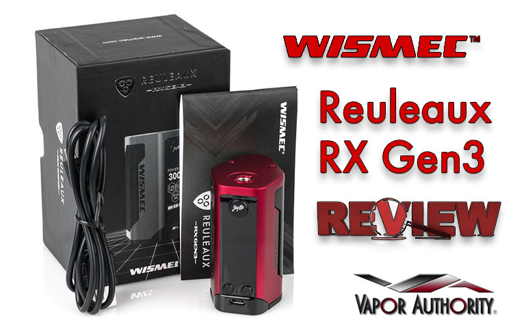 Reuleaux RX Gen3 from WISMEC – Smaller Footprint Big Power – Spinfuel VAPE Magazine