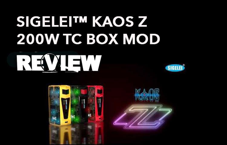 Sigelei Kaos Z 200W TC Box Mod Review – Spinfuel VAPE