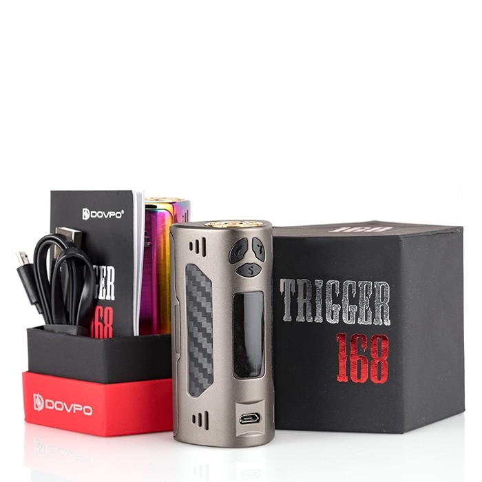 Dovpo Trigger 168w TC Box Mod Review – Spinfuel VAPE