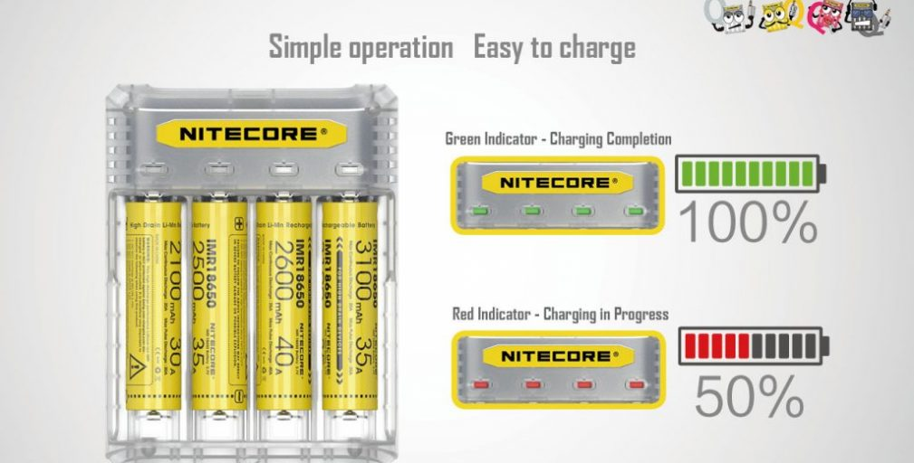 Nitecore Q4 Charger Review – Spinfuel VAPE