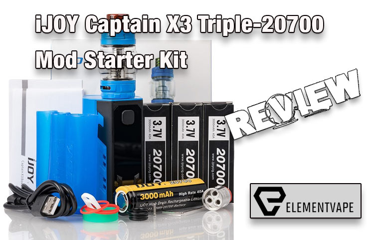 iJOY Captain X3 Triple-20700 Mod Kit Review - Spinfuel VAPE