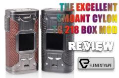 Smoant Cylon TC 218 Box Mod Review – SPINFUEL VAPE