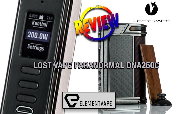 Lost Vape Paranormal DNA250C Box Mod Review