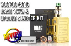 Voopoo Gold DRAG Box Mod Starter Kit Review