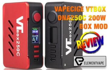 Vapecige VTBox DNA250C 200W Box Mod Review