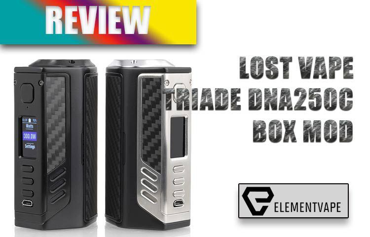 LOST VAPE TRIADE DNA250C 300W MOD REVIEW | Spinfuel VAPE