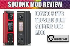 Dovpo x TVC Topside Top-Filling Squonk Mod Review by Spinfuel VAPE