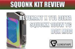 REVENANT X TVL DELTA SQUONK 100W TC BOX MOD