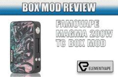 FAMOVAPE MAGMA 200W TC BOX MOD