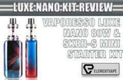 VAPORESSO LUXE NANO 80W & SKRR-S MINI STARTER KIT
