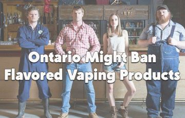 Ontario ban on flavored vaping products